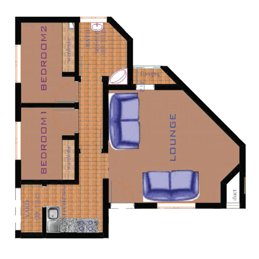 2-Bedroom-Plan